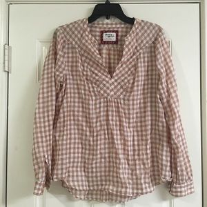Holding horse brown plaid shirt size 6